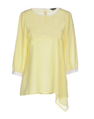 Блузка TO-MAY. Цвет: желтый