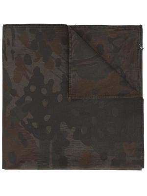 Шарф с камуфляжным принтом 11 By Boris Bidjan Saberi. Цвет: зелёный