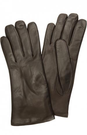 Кожаные перчатки с подкладкой из кашемира Sermoneta Gloves. Цвет: коричневый