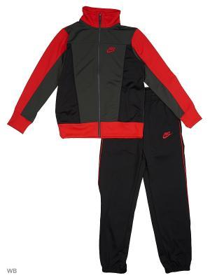 Спортивный костюм B NSW TRK SUIT PAC POLY Nike. Цвет: черный, бордовый, серый