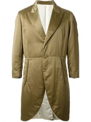 Стеганое пальто Jean Paul Gaultier Vintage. Цвет: зелёный