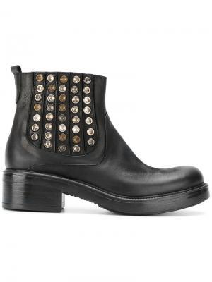 Ботинки-челси с заклепками Strategia. Цвет: чёрный