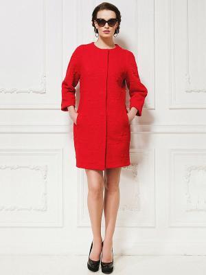 Пальто La vida rica. Цвет: красный