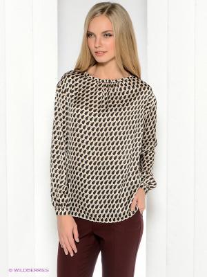 Блузка Henry Cotton's. Цвет: черный, молочный
