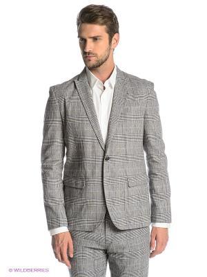 Пиджак SELECTED. Цвет: серый, белый, черный