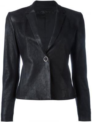 Кожаный пиджак Drome. Цвет: чёрный