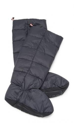 Высокие пуховые носки Hunter Boots. Цвет: голубой