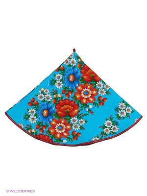 Полотенце круглое Метиз. Цвет: синий