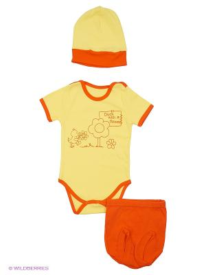Комплект одежды Апрель. Цвет: желтый, оранжевый