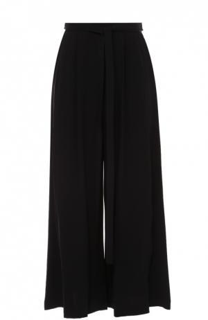 Укороченные широкие брюки с поясом Proenza Schouler. Цвет: черный