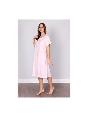 Сорочка Sis. Цвет: розовый