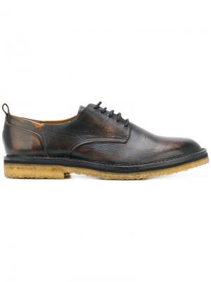 Туфли на шнуровке Buttero. Цвет: чёрный