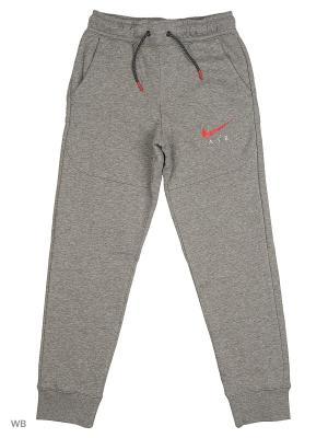 Брюки B NK AIR PANT Nike. Цвет: серый, красный