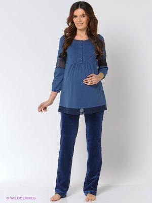 Комплект одежды для беременных и кормящих Hunny Mammy. Цвет: синий