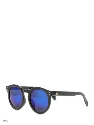 Солнцезащитные очки Vita pelle. Цвет: черный, голубой