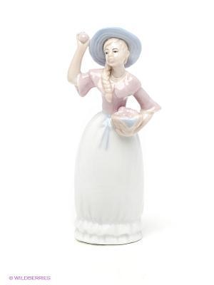 Статуэтка Хозяюшка Pavone. Цвет: светло-голубой, бледно-розовый, белый