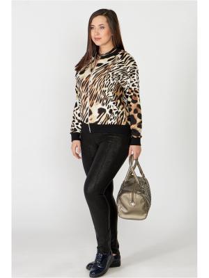 Куртка (бомбер) Amarti. Цвет: черный, светло-коричневый