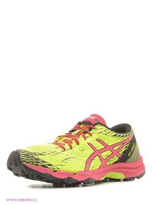 Кроссовки GEL-FujiLyte ASICS. Цвет: желтый, розовый, черный