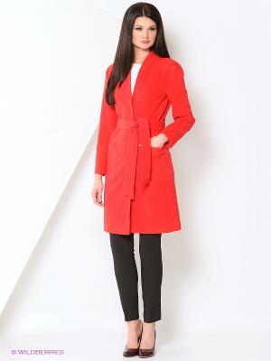 Пальто Stilla. Цвет: красный