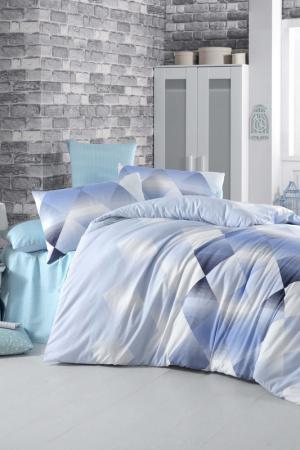 Single Quilt Cover Set Victoria. Цвет: blue, white, dark blue