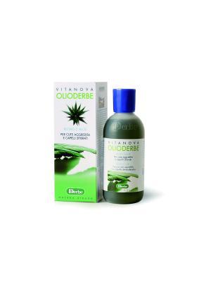 Масло моющее с алое Olioderbe для секущихся и тонких волос DERBE. Цвет: зеленый
