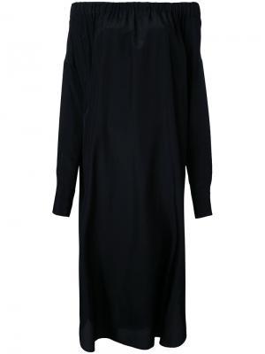 Платье с открытыми плечами 08Sircus. Цвет: чёрный