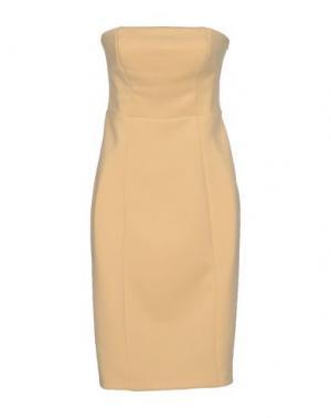 Короткое платье KAOS. Цвет: светло-желтый