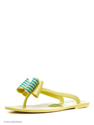 Пантолеты Mon Ami. Цвет: желтый