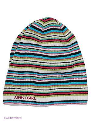 Шапка Agbo. Цвет: зеленый, бирюзовый