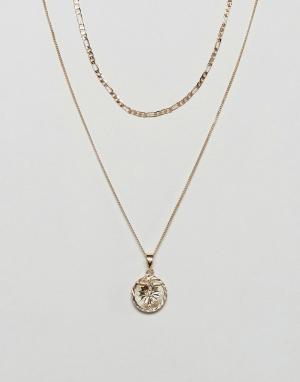 Chained & Able Набор золотистых ожерелий с распятием эксклюзивно для A. Цвет: золотой