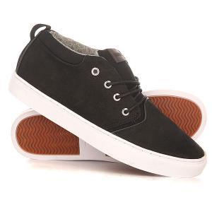 Кеды кроссовки высокие  Griffin Shoe Xkcw Black/Brown/White Quiksilver. Цвет: черный