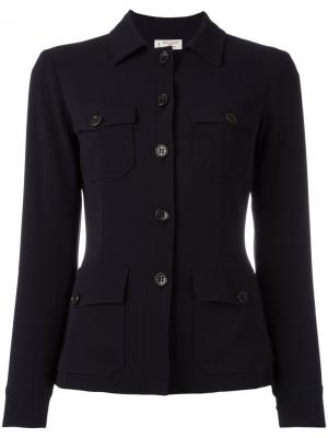 Приталенный пиджак на пуговицах Alberto Biani. Цвет: синий