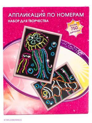 Набор для творчества  Аппликации по номерам. Рыба и медуза Multiart. Цвет: розовый