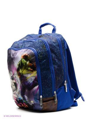 Рюкзак PROFF. Цвет: синий, светло-зеленый, фиолетовый