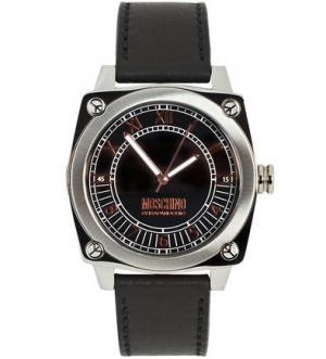 Часы с кожаным браслетом Moschino