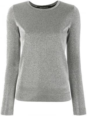 Блузка металлик Ter Et Bantine. Цвет: металлический