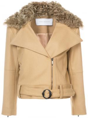Куртка-бомбер со съемным воротником Kimora Lee Simmons. Цвет: телесный