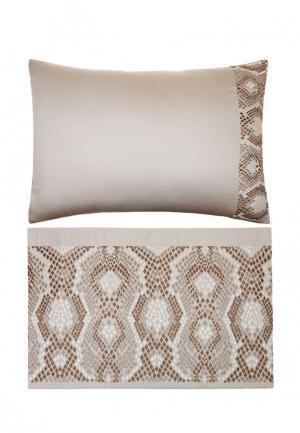 Комплект постельного белья Евро Luxberry. Цвет: коричневый