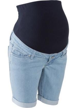Джинсовые шорты для беременных (голубой) bonprix. Цвет: голубой