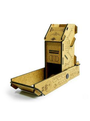 Башня для бросков кубиков MDT-7, малая, складная, 2 режима Правильные игры. Цвет: коричневый