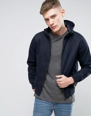 Tokyo Laundry Куртка из хлопковой саржи с капюшоном Landry. Цвет: темно-синий
