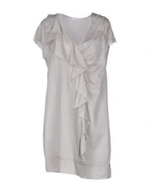 Короткое платье B.YU. Цвет: светло-серый
