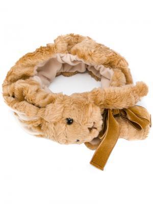 Повязка на голову в виде кролика Ca4la. Цвет: коричневый