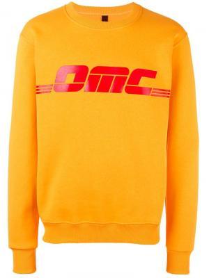 Толстовка с принтом логотипа Omc. Цвет: жёлтый и оранжевый
