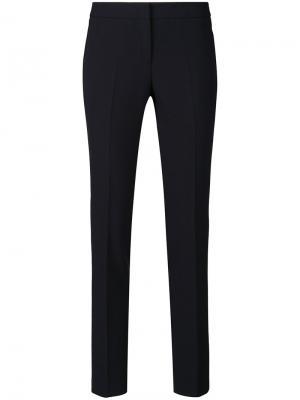 Укороченные брюки кроя слим Alberto Biani. Цвет: синий