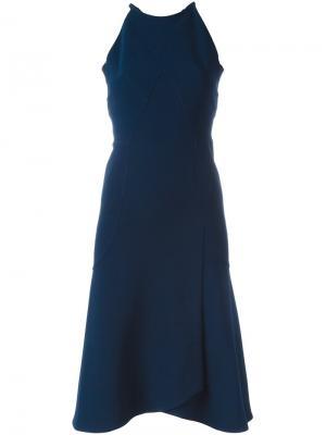 Платье с фигурными панелями Roland Mouret. Цвет: синий