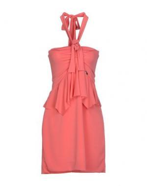Короткое платье MRESALE. Цвет: коралловый