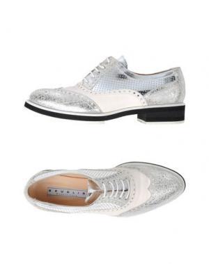 Обувь на шнурках F.LLI BRUGLIA. Цвет: серебристый