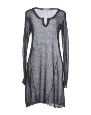 Короткое платье MARIA DI RIPABIANCA. Цвет: стальной серый