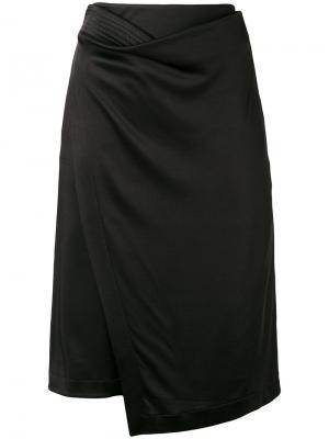 Асимметричная юбка с запахом Atlein. Цвет: чёрный